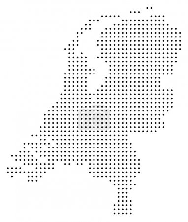 Dotted Netherlands map