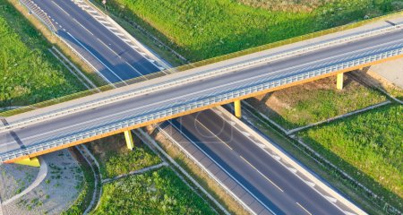 Photo for Aerial view of road junction in Poland - Royalty Free Image