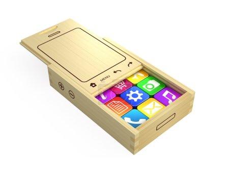 Smartphone with program icons