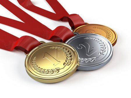 Photo for Gold, Silver and bronze medals - Royalty Free Image