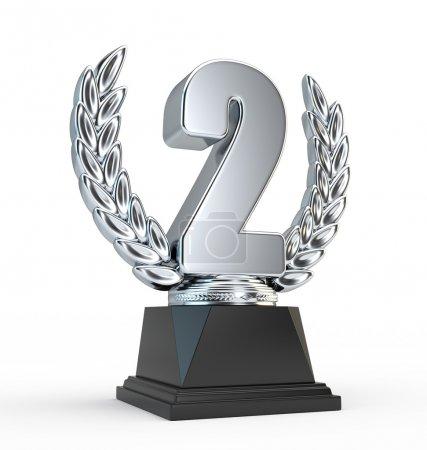 Photo pour Coupe trophée deuxième place - image libre de droit