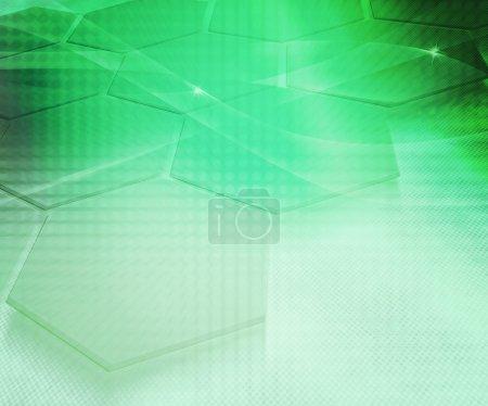 streszczenie tło zielony sześciokąt
