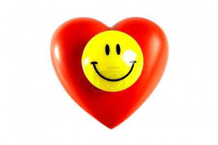Happy Smiley on heart