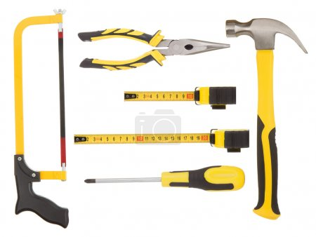 Set of tools isolated on white