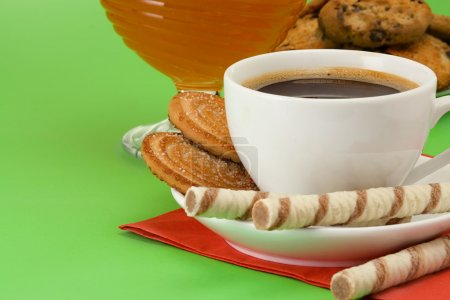 Coffee, honey and cookies