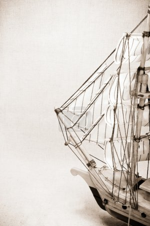 Photo for Model of the sailing ship - Royalty Free Image