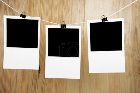Photo frames for photo images on wood