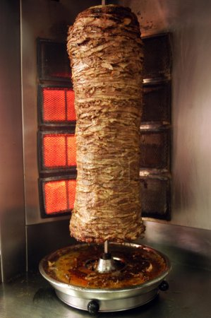 Photo for Shawarma - a popular dish in a fast-food staple in the middle-east. - Royalty Free Image