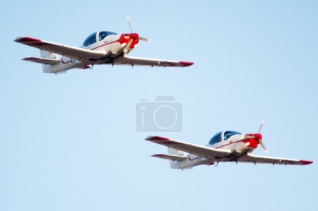 Two G120A training planes are taking part in an ai...