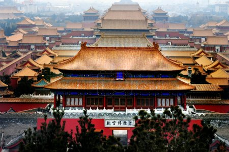 Photo for An aerial bird view of the Forbidden City. - Royalty Free Image