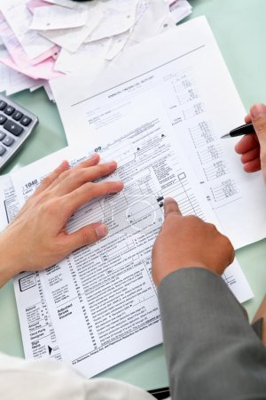 Guiding to fill tax form