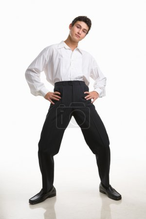 Funny pose of a male teenager
