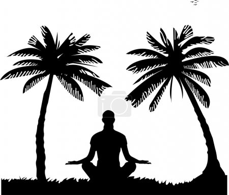 An isolated girl meditating and doing yoga exercise