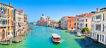 Photo for Panoramic view of famous Canal Grande in Venice, Italy. - Royalty Free Image