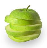 "Постер, картина, фотообои ""Аннотация кусочки зеленого яблока"""