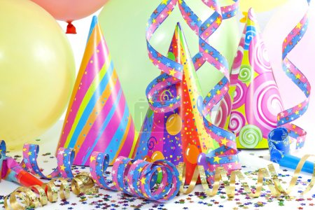 Photo for Colorful party background with balloons - Royalty Free Image