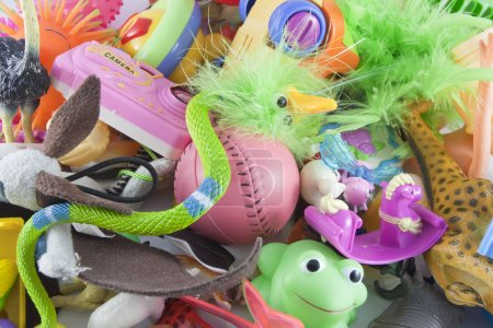 Photo for Messy plastic toys - Royalty Free Image