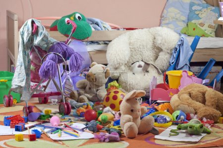 Photo for Messy kids room with toys - Royalty Free Image