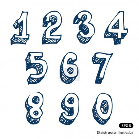 Hand-drawn numbers
