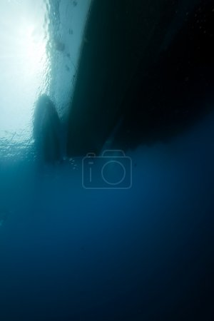 Photo for Underwater view of boats at the surface - Royalty Free Image