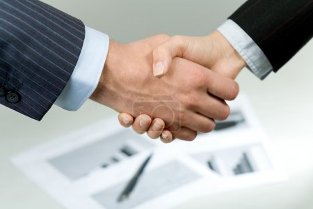 Companions' handshake