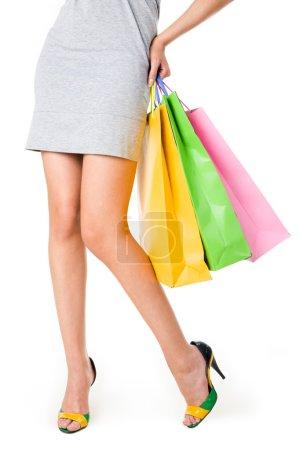 Legs of shopper