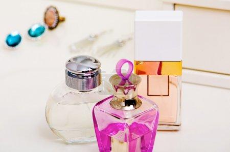 Bottles with fragrances