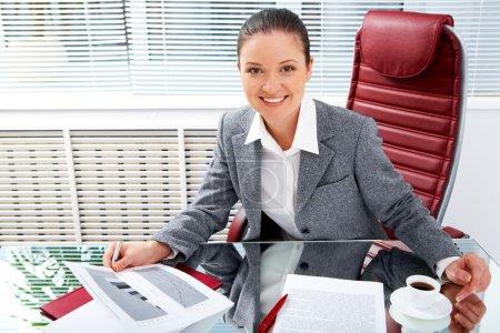 Female at work
