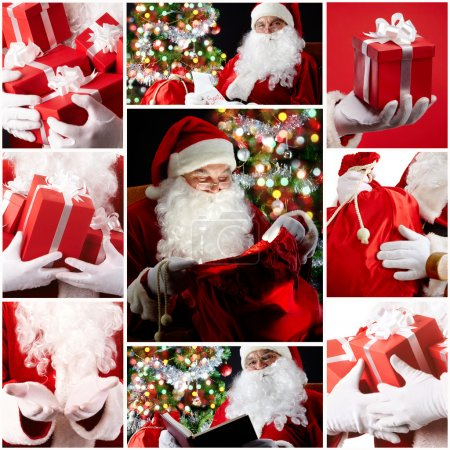 Photo for Christmas theme: Santa Claus and presents - Royalty Free Image