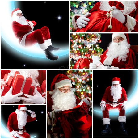 Photo for New Year theme: Santa Claus and presents - Royalty Free Image