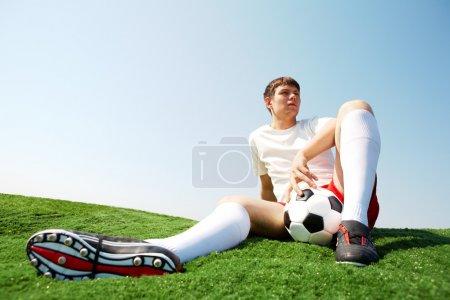 Relaxing sportsman