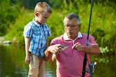 au cours de la pêche