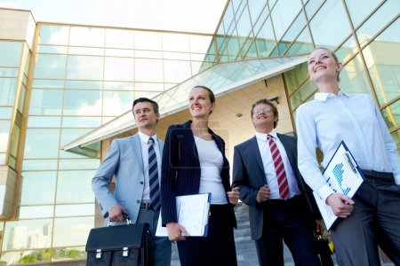 Confident businesspeople