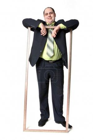 Businessman in frame
