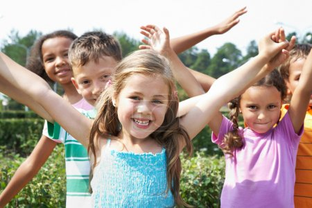 Photo for Portrait of happy children having fun and smiling at camera - Royalty Free Image