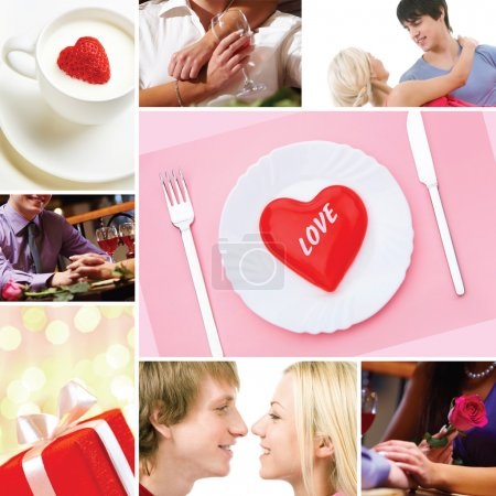 Photo for Collage made of images of valentines and love concepts - Royalty Free Image