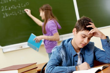 Student at lesson