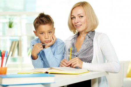 Teacher and kid