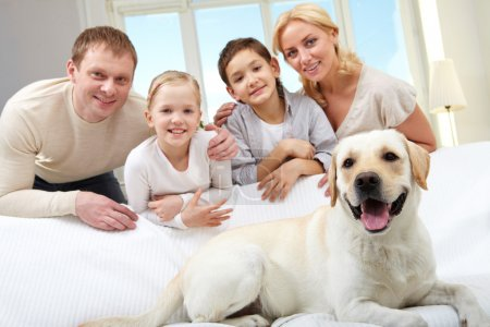 Family and their pet