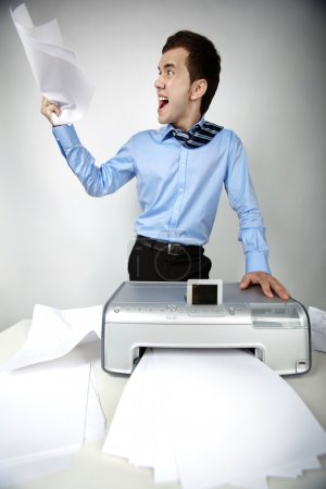 Man with scanner