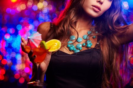 Photo for Young girl clubbing at nightclub - Royalty Free Image