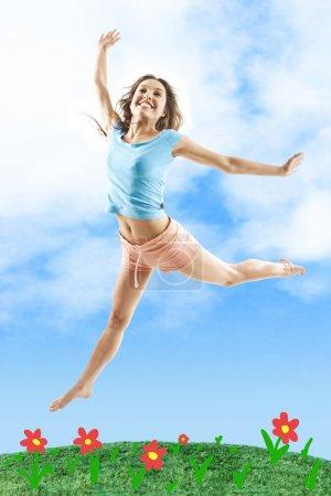 Girl in jump