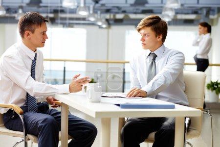 Man-to-man talk