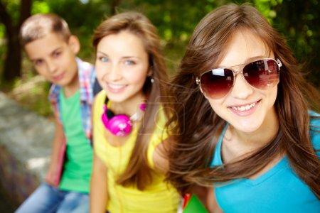 Cheerful teens