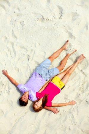 Sleeping on the sand