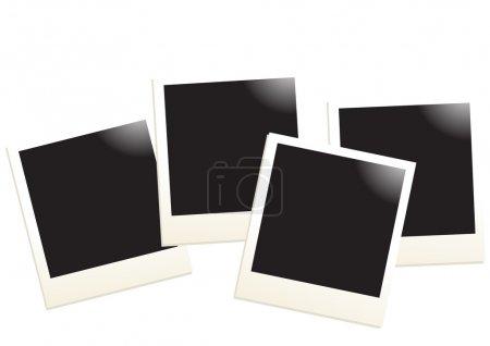 Ilustración de Ilustración de vector de cuatro fotos vacíos sobre un fondo blanco - Imagen libre de derechos