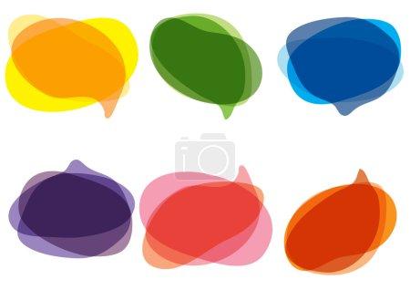 Illustration pour Illustration vectorielle de bulles colorées pour discours - image libre de droit