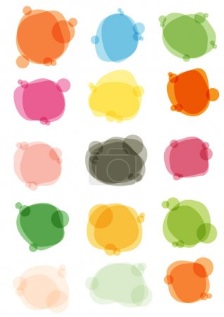 Illustration for Vector illustration of multicolored bubbles for speech - Royalty Free Image