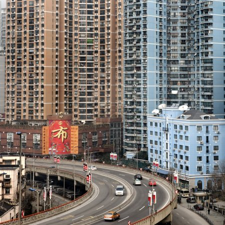 Photo for Urban highway in Shanghai - Royalty Free Image