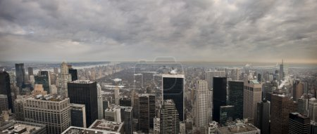 View of New York City from the Rockefeller building